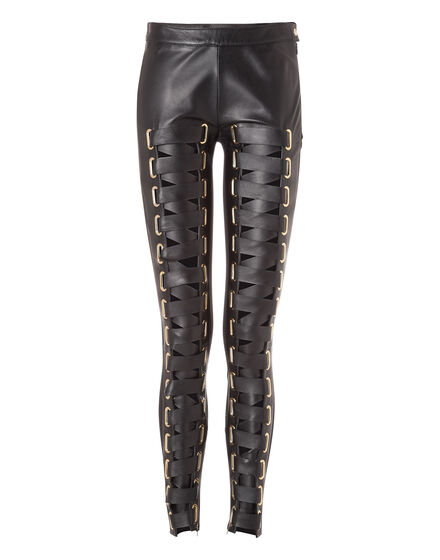 Leather Trousers Long Heliodor