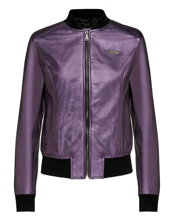 Leather Bomber Statement