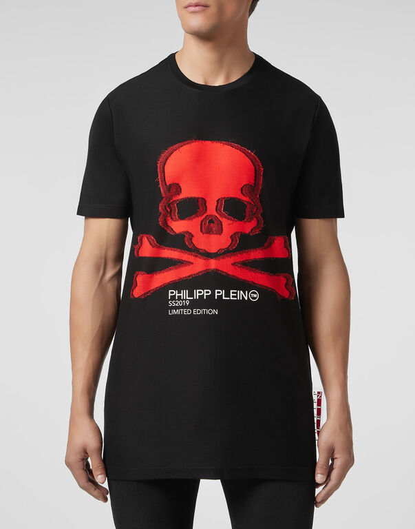 T-shirt Round Neck SS long Skull