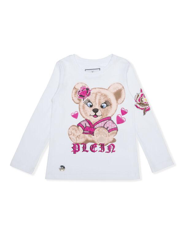 T-shirt Round Neck LS Teddy Bear