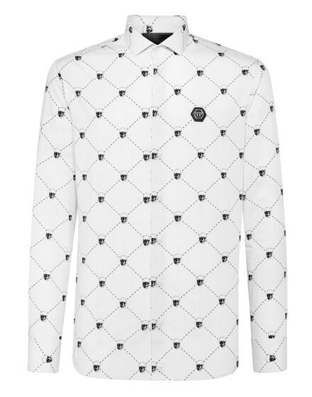 Shirt Diamond Cut LS Skull