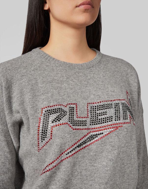 Pullover Round Neck LS Space Plein