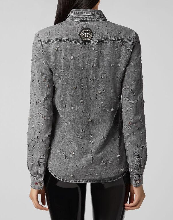Denim Shirt Ls Crystal