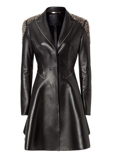 leather coat sonar