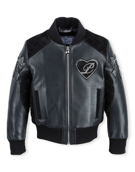 Leather Bomber Bright Dram