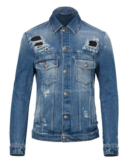 Denim Jacket Camou details