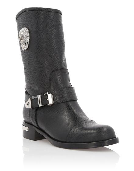 Boots Mid Flat Skull Light