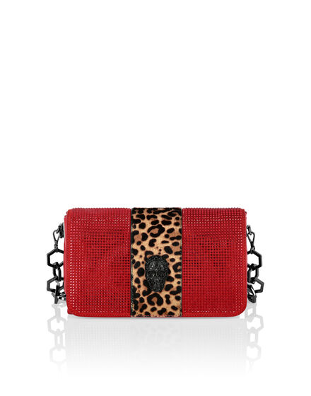 Shoulder Bag Crystal Leopard