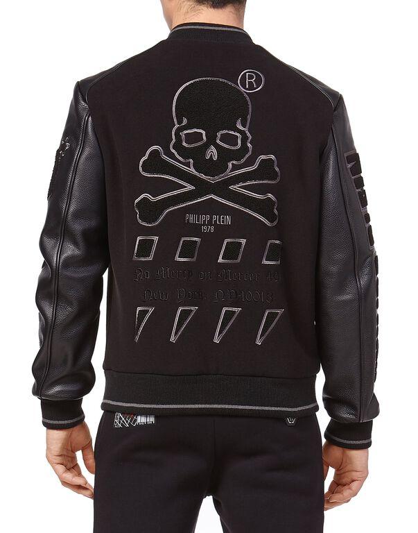 Leather Bomber MM Skull