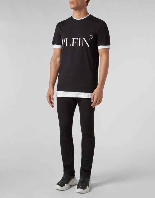T-shirt Black Cut Round Neck Philipp Plein TM