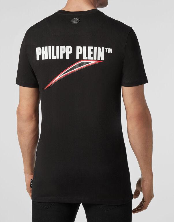 T-shirt Platinum Cut Round Neck Space Plein