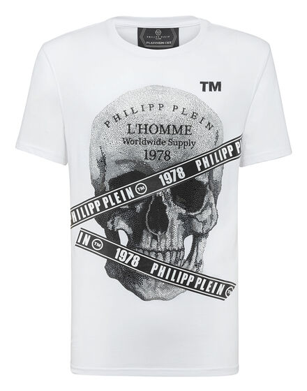 T-shirt Platinum Cut Round Neck Philipp Plein TM