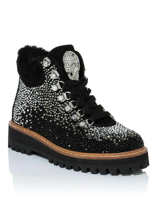 "Boots Low Flat ""san"""