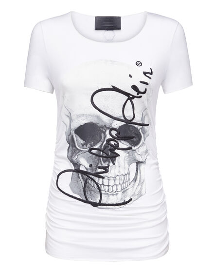 T-shirt Round Neck SS Signature on skull