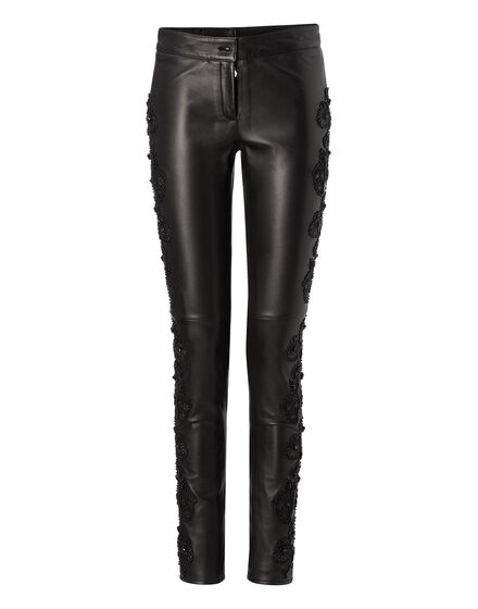 leather trousers black widow