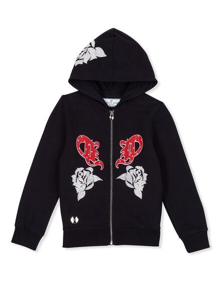 Hoodie Sweatjacket Rose girl P