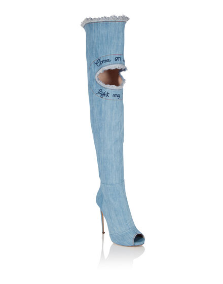 Boots High Heels High Come on denim