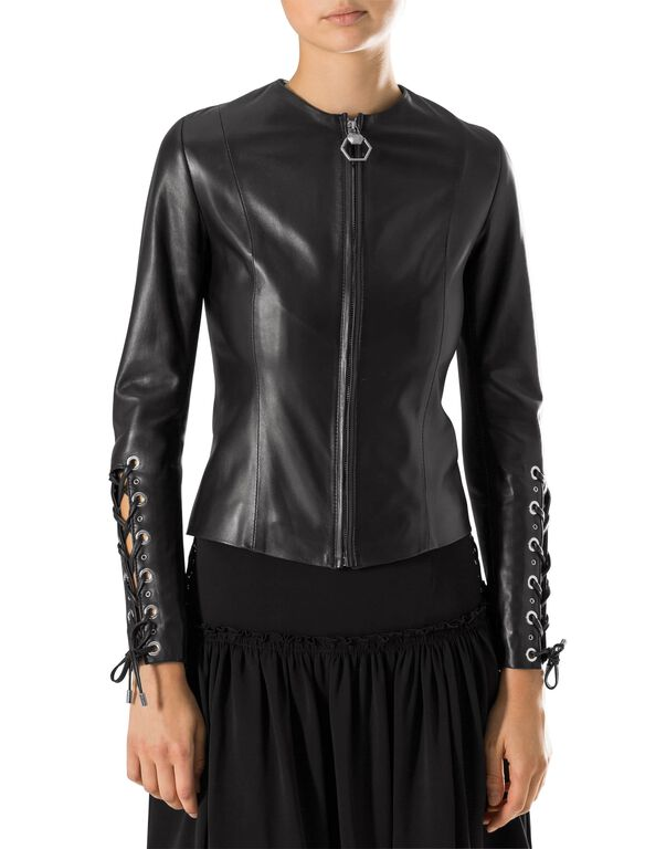 """Leather Jacket """"Phecda"""""""