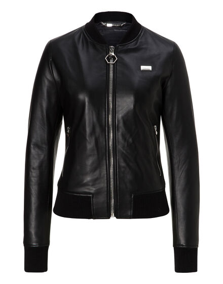 Leather Bomber Columbus Circle