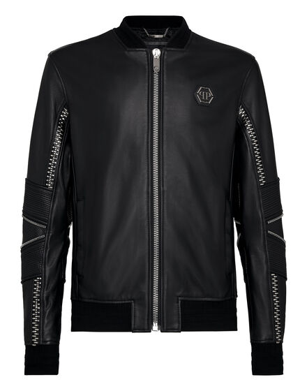 Leather Bomber The Monster