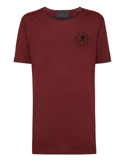 T-shirt Black Cut Round Neck Explicit