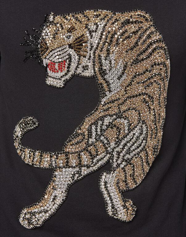 """Sweatshirt LS """"Tigre strass"""""""