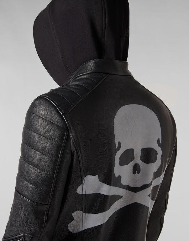 Leather Biker Skull