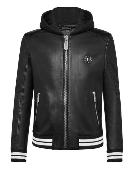 Leather Bomber Aggressive Statement