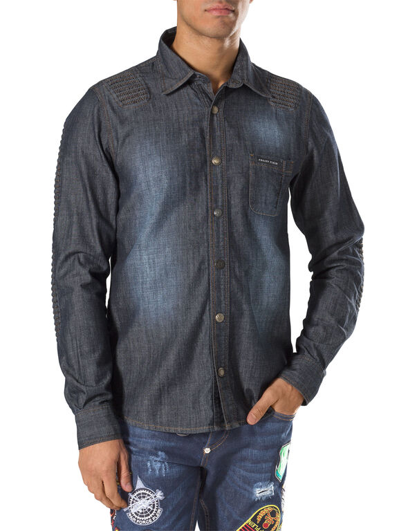 "denim shirt ""dig deep"""
