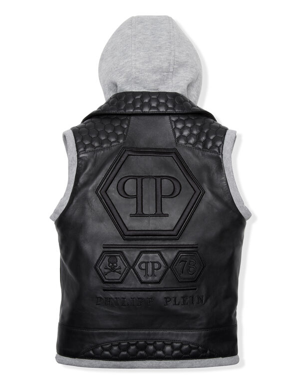 "Leather Vest Short ""Good Guys"""