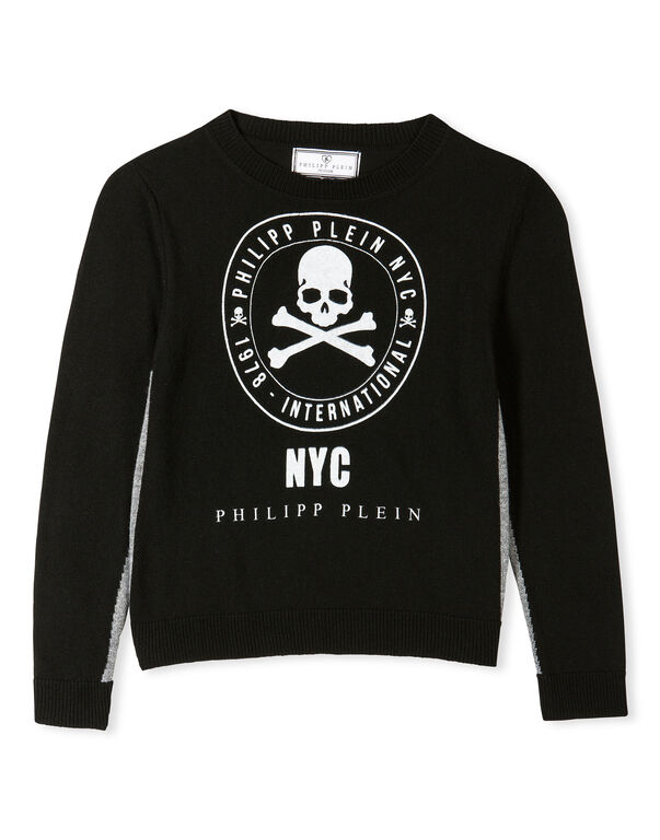 "Pullover Round Neck LS ""Noble Skull"""