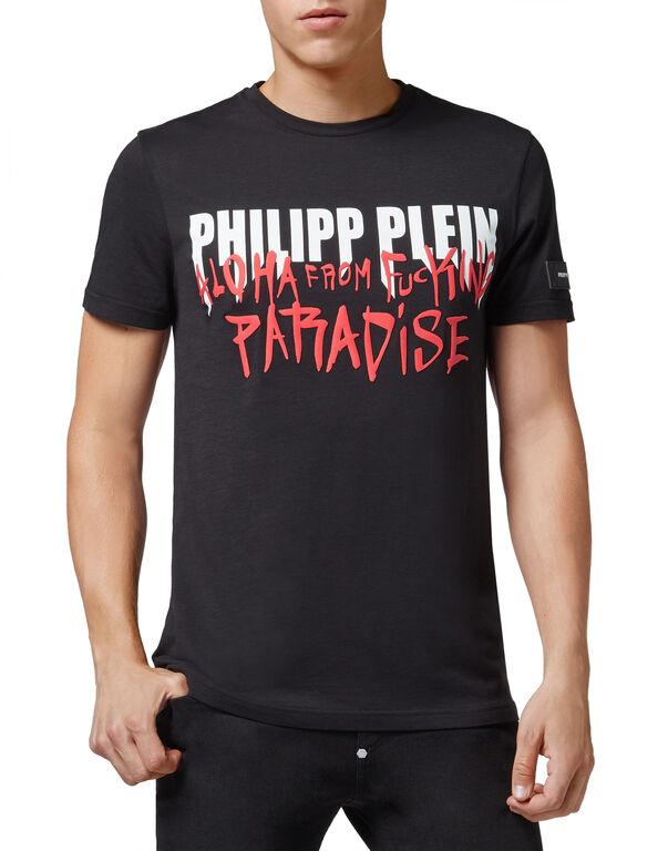 T-shirt Platinum Cut Round Neck