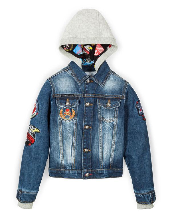 "denim jacket ""little guy"""