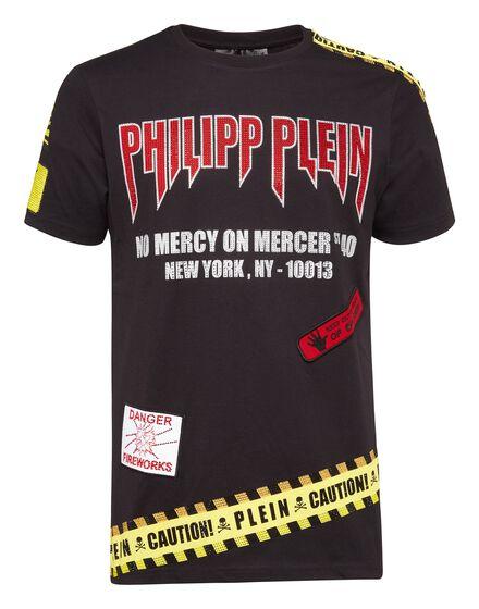 T-shirt Round Neck SS MM Warning
