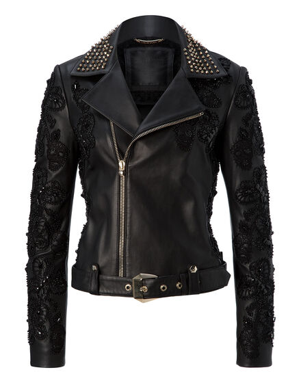 leather jacket black widow