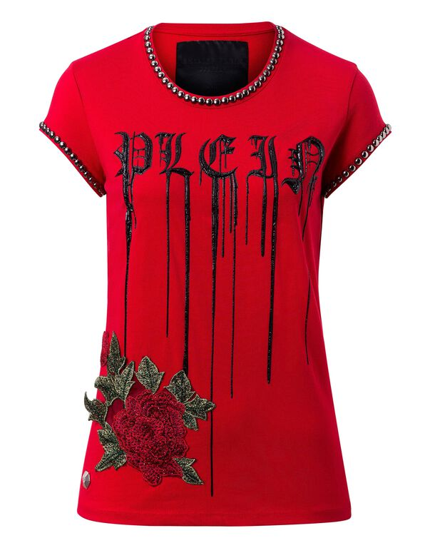"T-shirt Round Neck SS ""Shiny rose"""