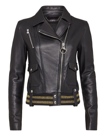 Leather Biker Gold