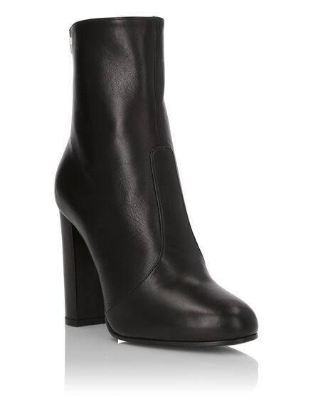 Boots Mid Heels High Crystal Plein
