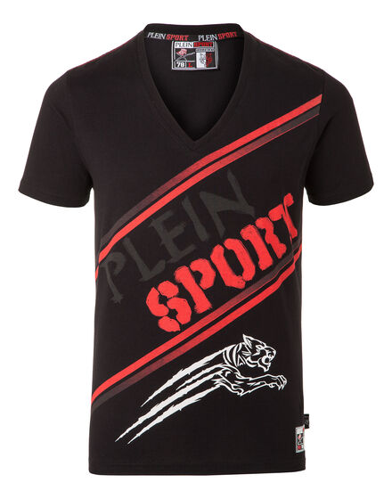 T-shirt V-Neck SS Basil