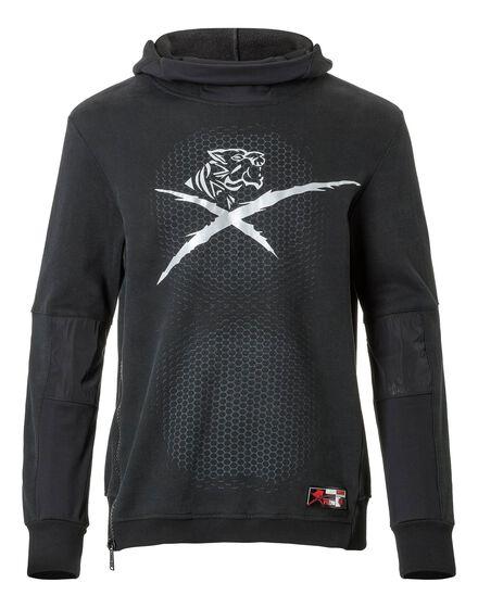 Hoodie Sweatjacket Gray Garnett