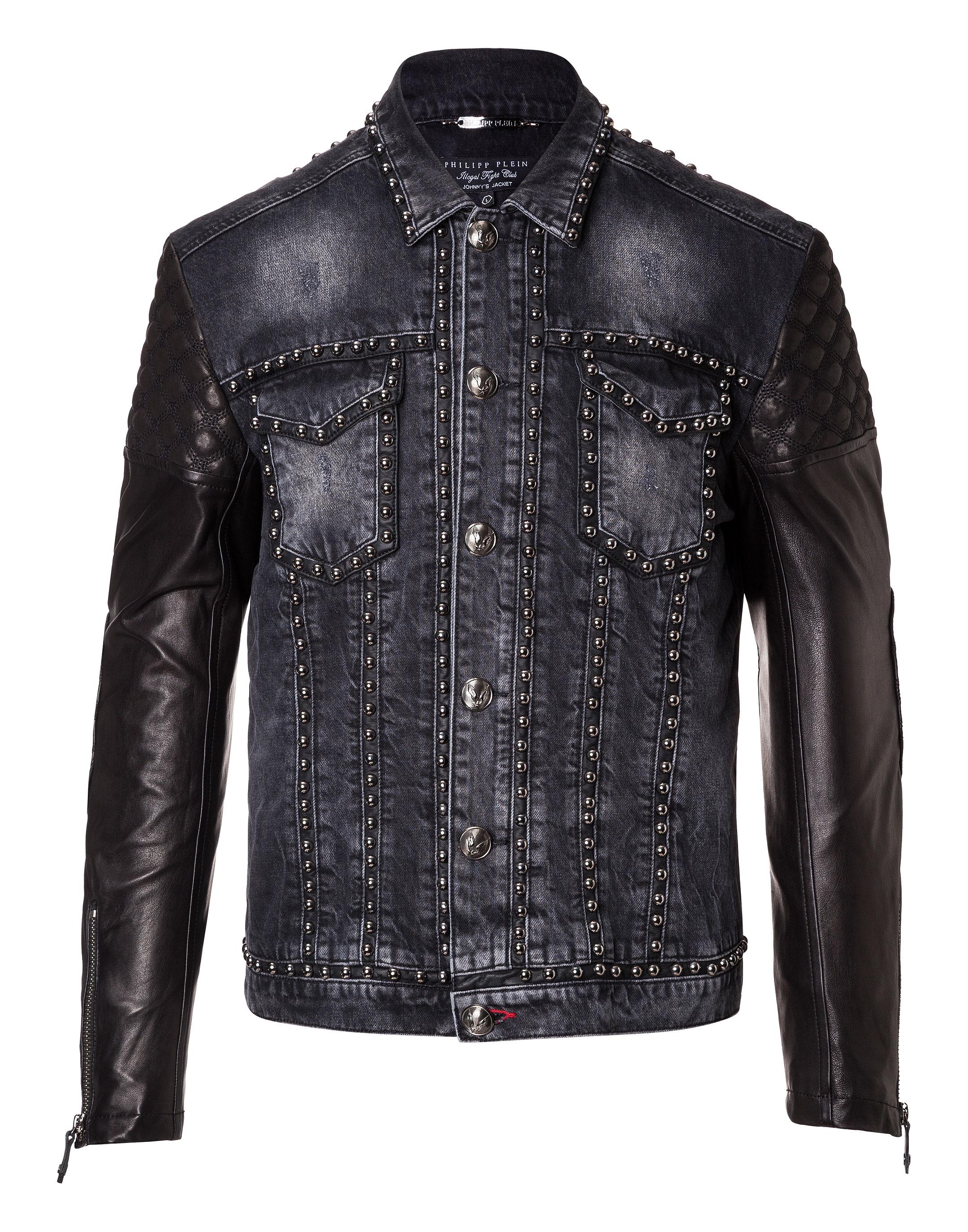 Jacket Noir Plein Denim Jacket Philipp Denim qfOyY