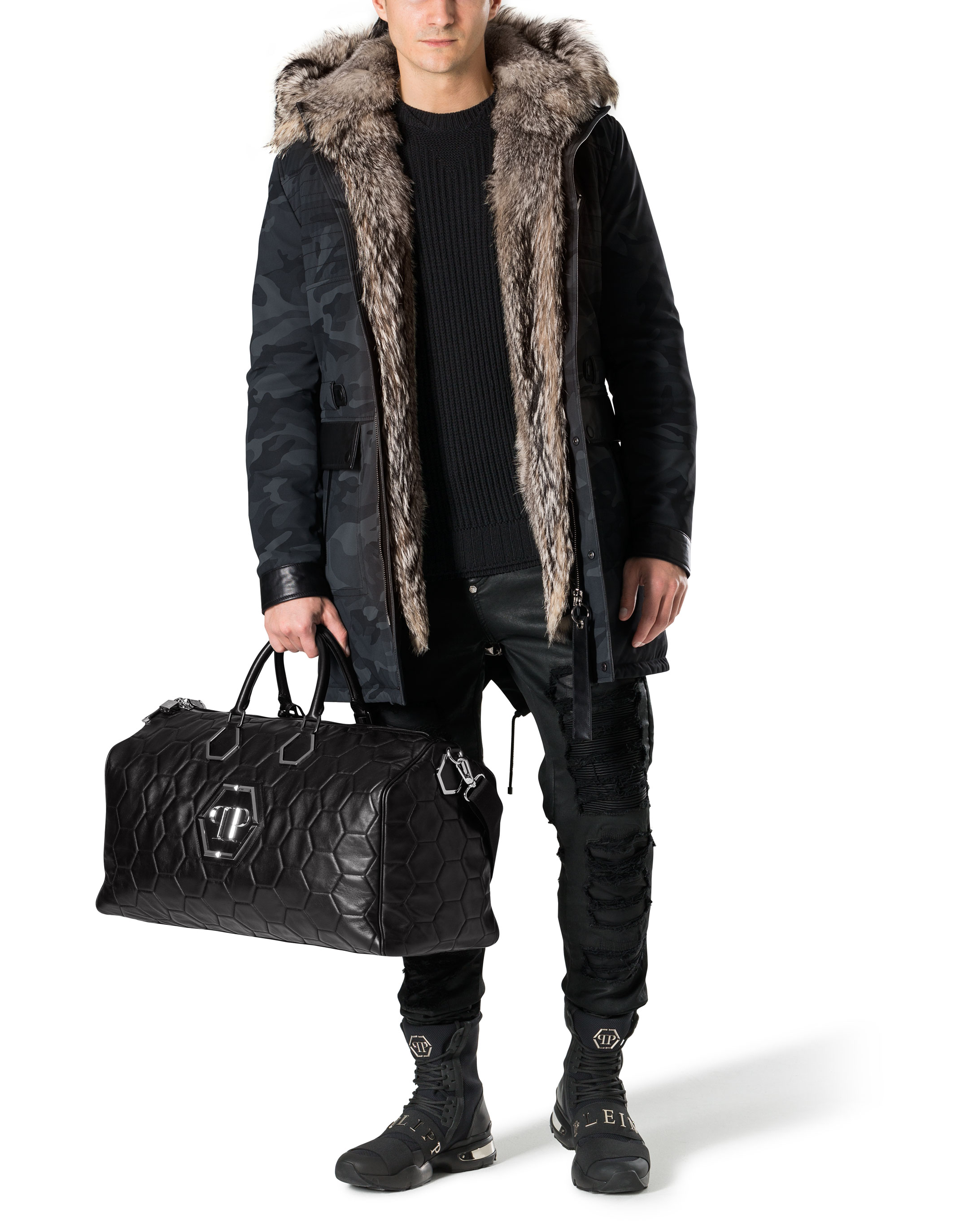 Fur Leather Parka