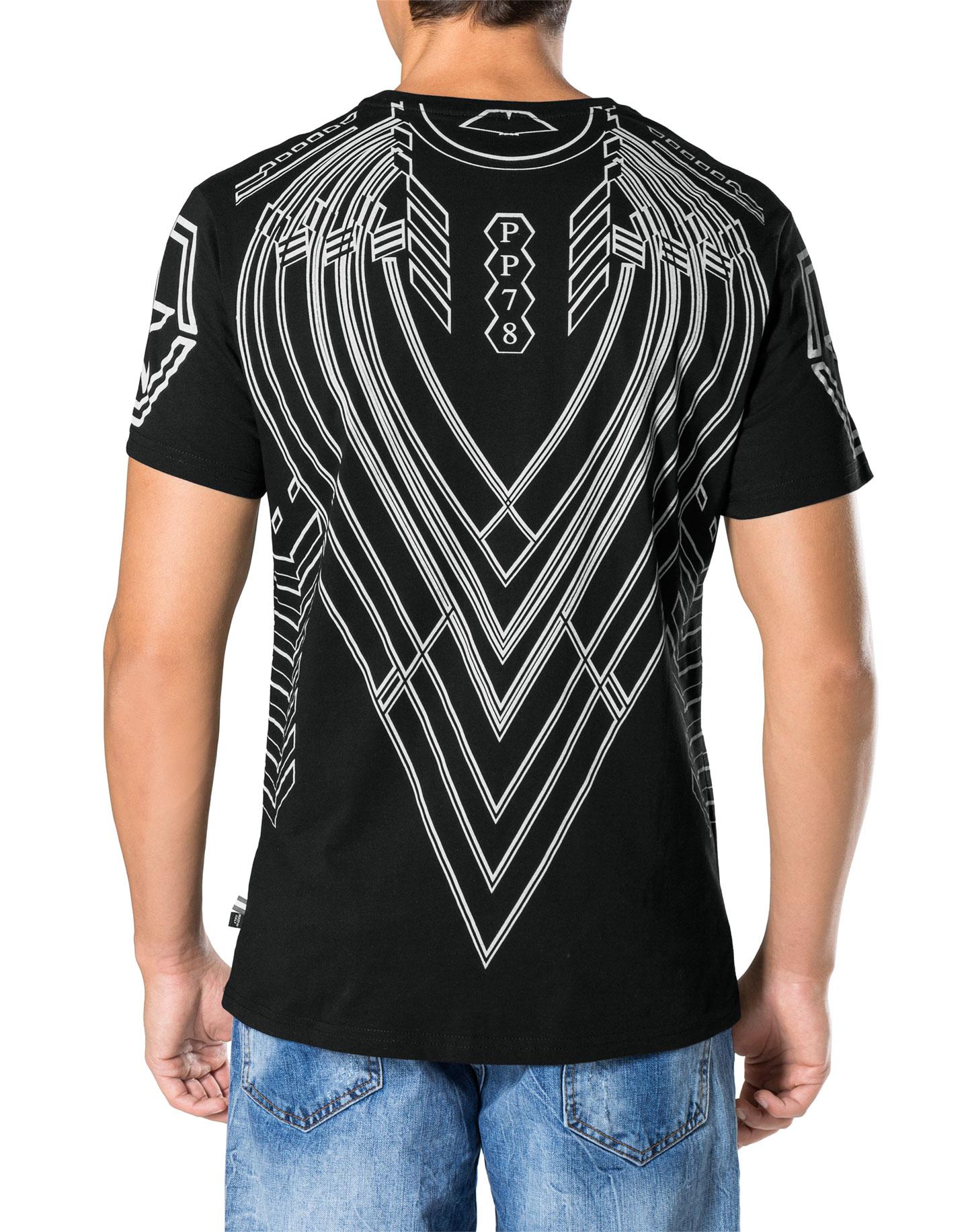 Herren Philipp Plein Shirt S17C MTK0036 Psychological White for Men T-shirt