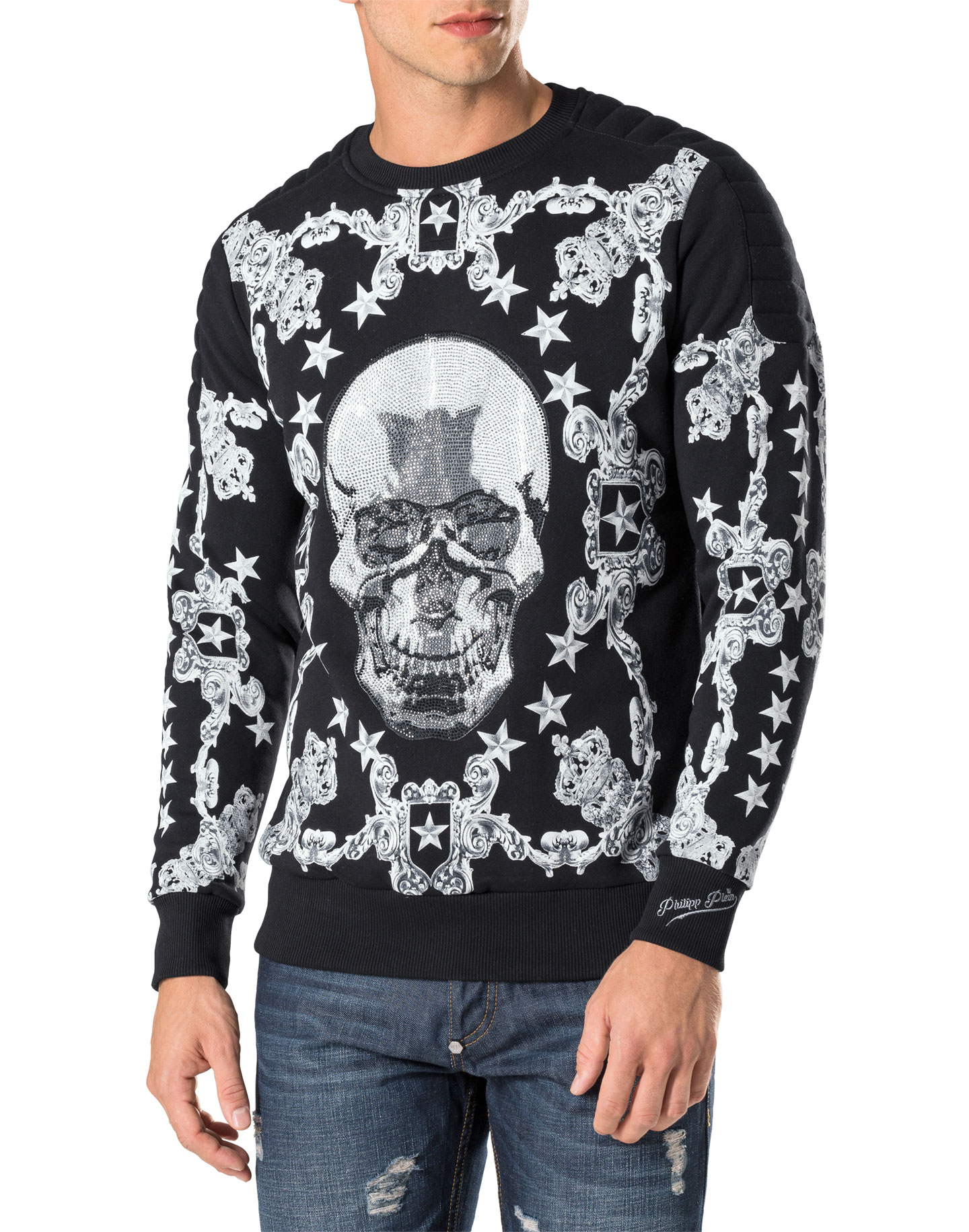 sweatshirt baroque philipp plein outlet. Black Bedroom Furniture Sets. Home Design Ideas