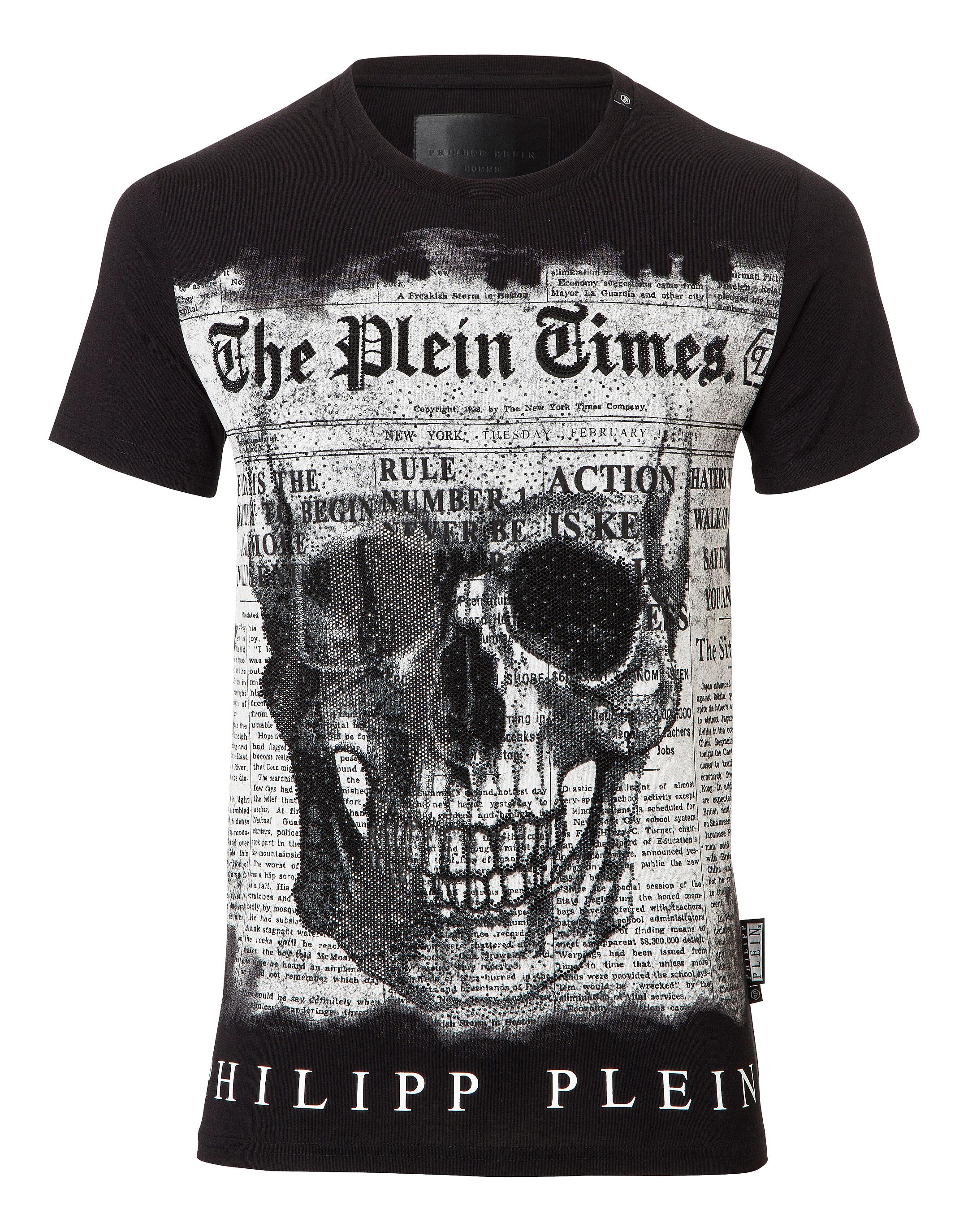 Best Supplier Genuine Hard T-shirt - Black Philipp Plein ePMGQ97d