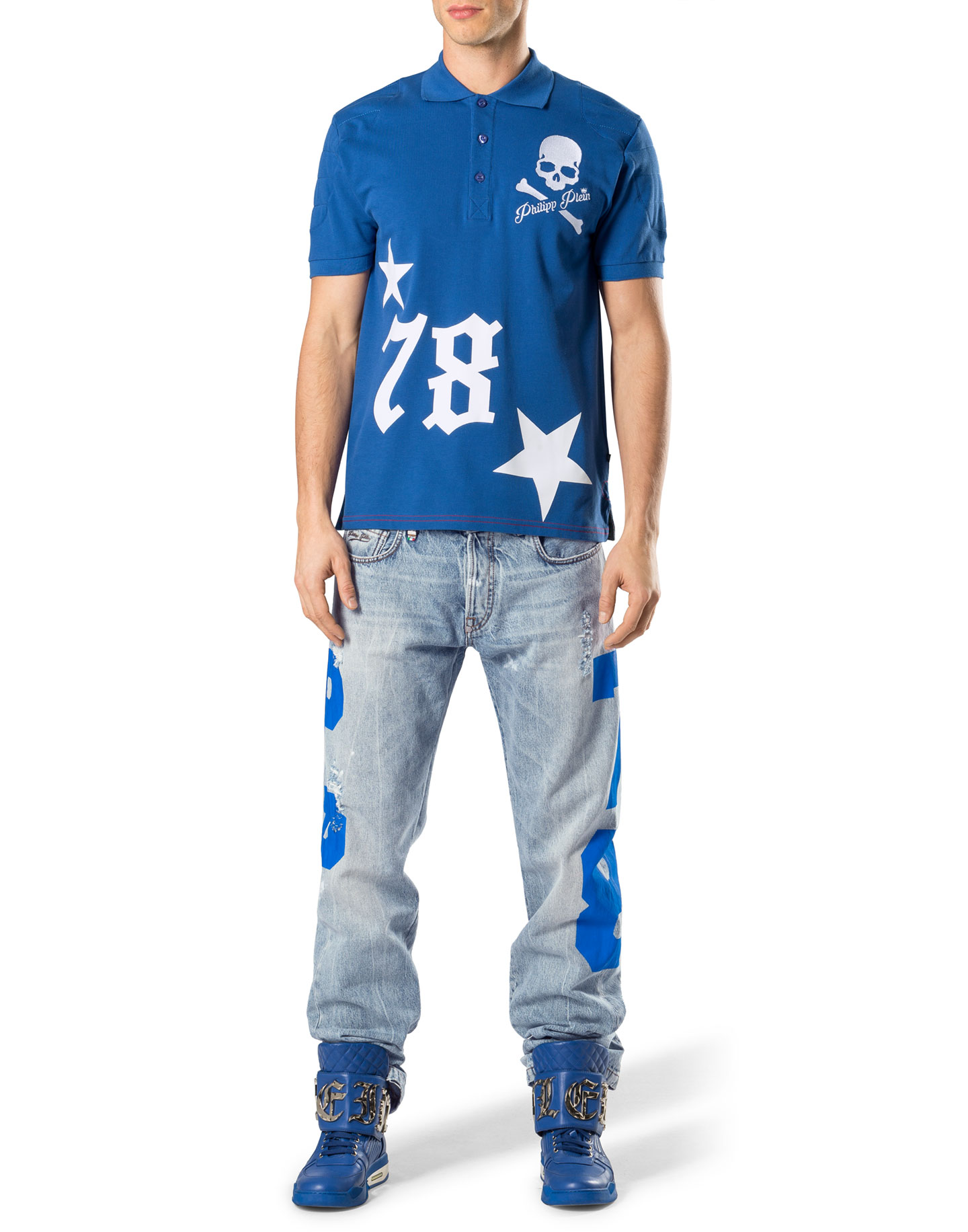 Polo Shirt Ss Tight Philipp Plein